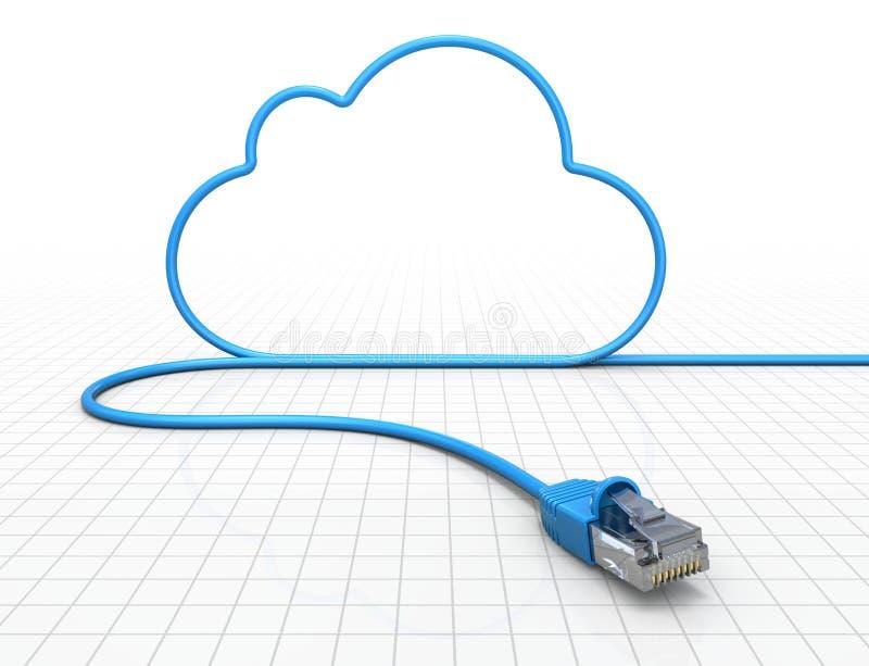 De gegevensverwerkingsconcept van de wolk vector illustratie