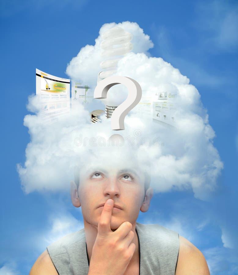 De gegevensverwerkingsconcept van de wolk stock afbeelding