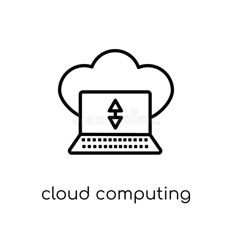 De gegevensverwerkingspictogram van de wolk  stock illustratie