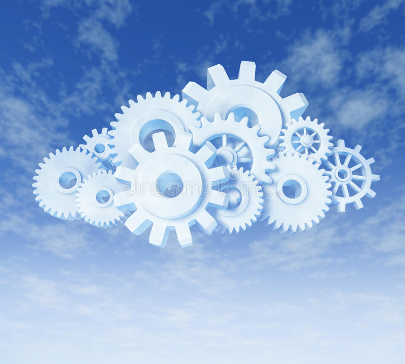 De gegevensverwerkingssymbool van de wolk royalty-vrije illustratie