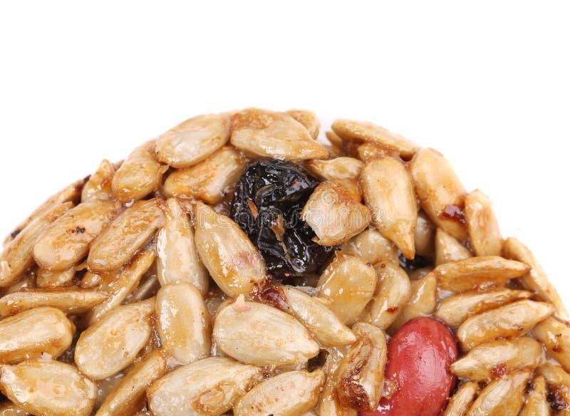 De geglaceerde geroosterde zaden van de pinda'szonnebloem stock foto's