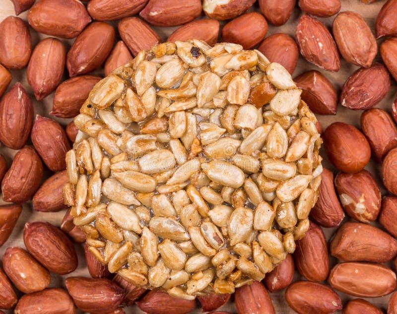 De geglaceerde geroosterde zaden van de pinda'szonnebloem royalty-vrije stock afbeeldingen