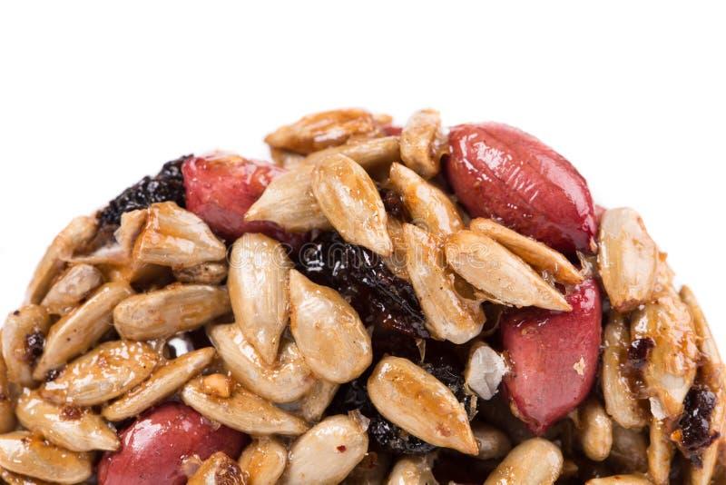 De geglaceerde geroosterde zaden van de pinda'szonnebloem stock afbeelding