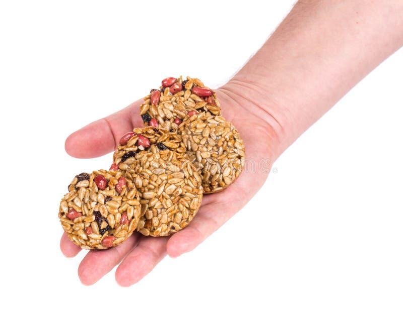 De geglaceerde geroosterde zaden van de pinda'szonnebloem ter beschikking stock afbeelding