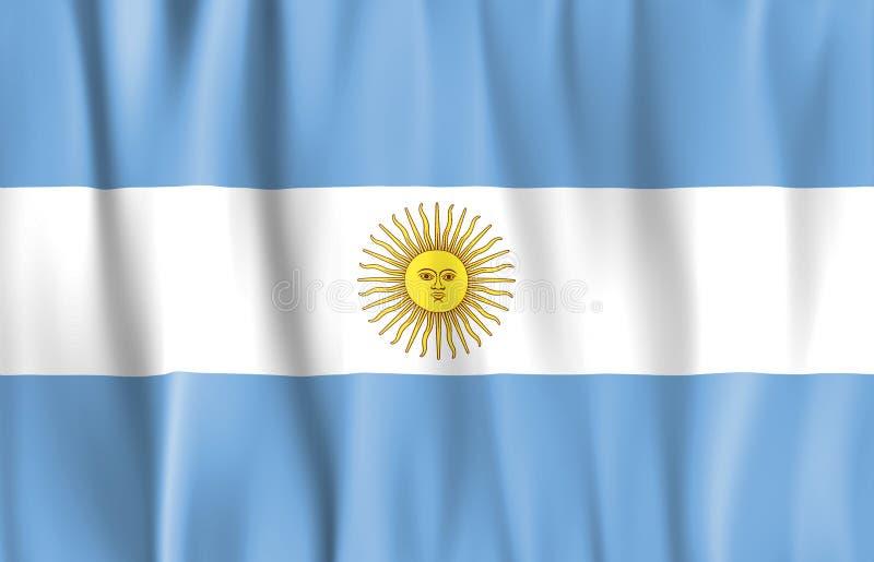 De gegolfte Vlag van Argentinië vector illustratie