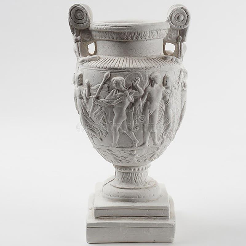 De gegoten urn van pleistergrecian stock afbeeldingen