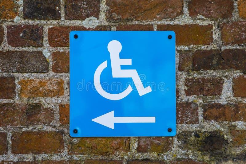 De gehandicapten hebben toegang tot teken royalty-vrije stock foto's