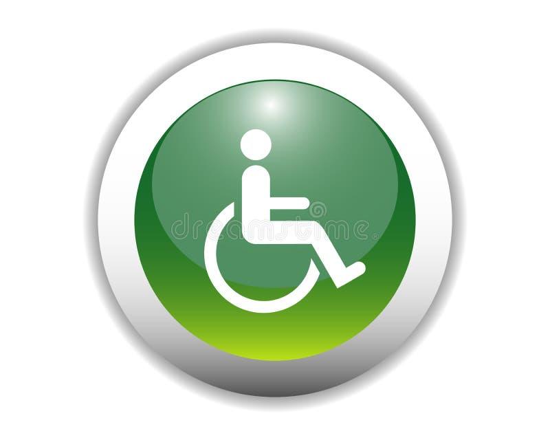 De gehandicapten ondertekenen de Knoop van het Pictogram stock illustratie