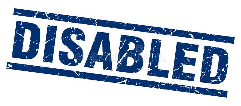 de gehandicapten stempelen royalty-vrije illustratie