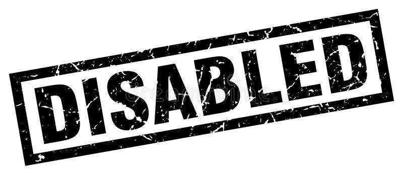 de gehandicapten stempelen vector illustratie