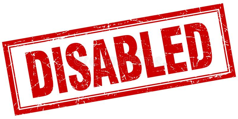 de gehandicapten stempelen stock illustratie