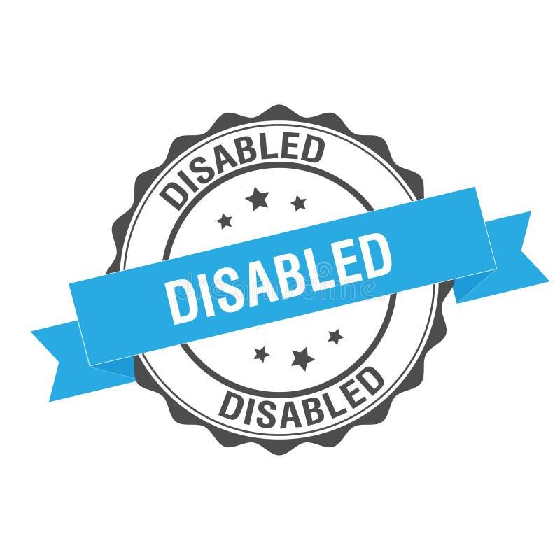 De gehandicapten stempelen illustratie royalty-vrije illustratie