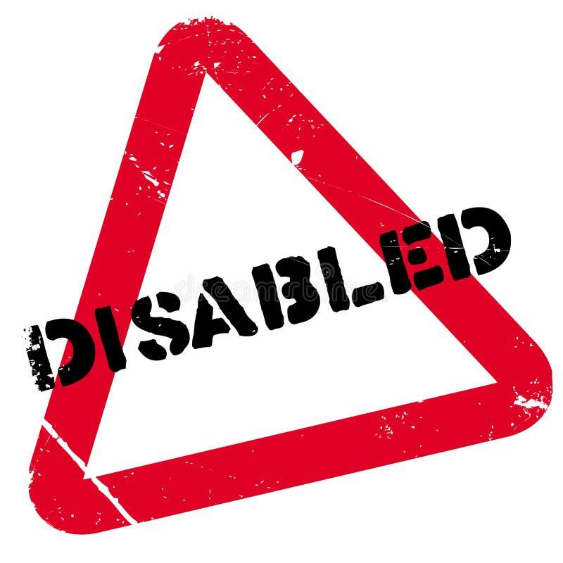 De gehandicapten stempelen rubber grunge stock illustratie