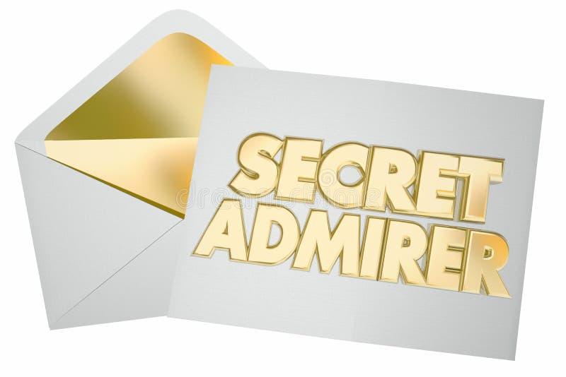 De geheime Brief Enevelope van de Bewonderaar Romantische Verbrijzeling vector illustratie