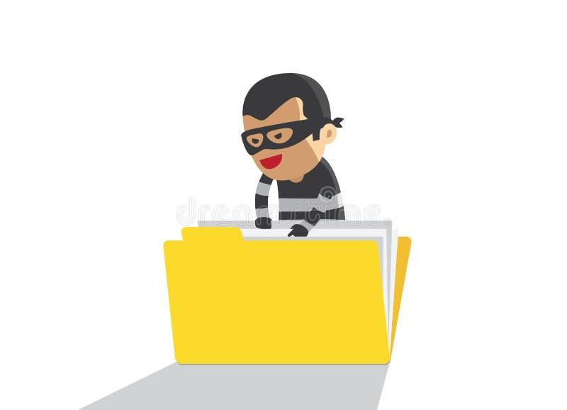 De geheime gegevens van de hakkerdiefstal royalty-vrije illustratie