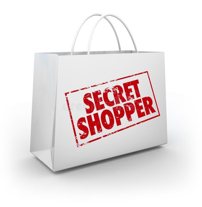 De geheime Geheimzinnigheid Klant het Winkelen Evaluatie van de Zakopslag vector illustratie