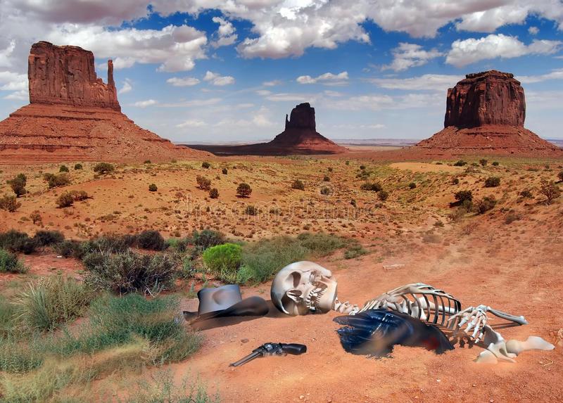De geheimen van de woestijn royalty-vrije illustratie