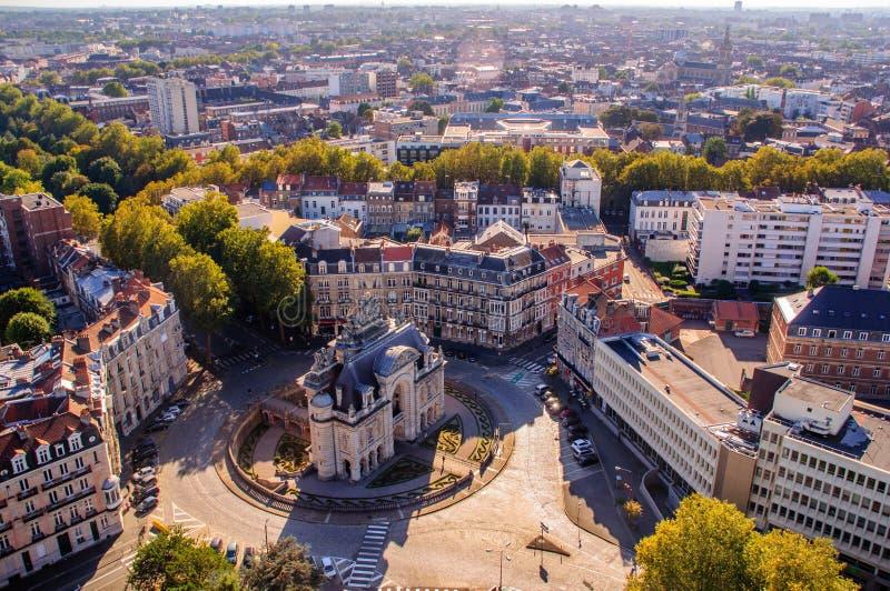 De Geheimen van Lille: 'Mini Arc de Triomphe ' stock afbeelding