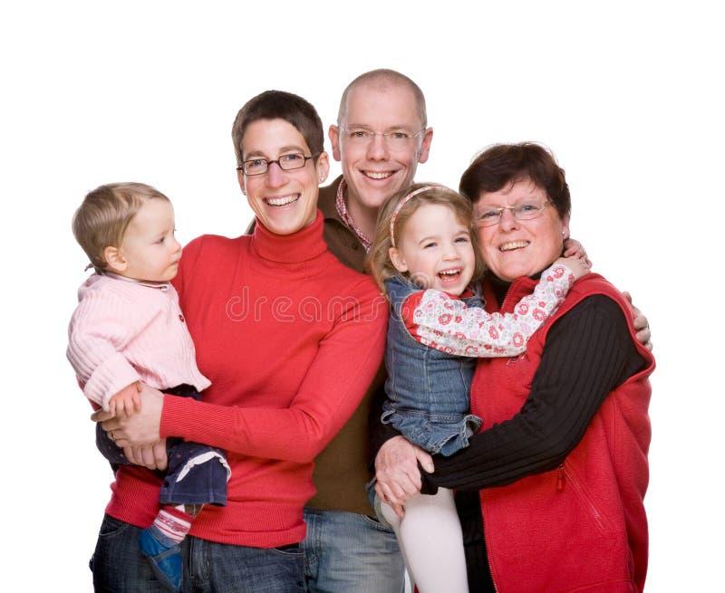 De gehele familie royalty-vrije stock afbeelding