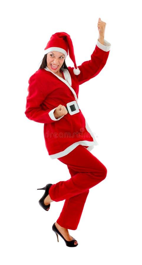 De gekke dans van de Kerstman stock foto's