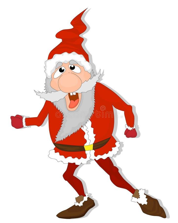 De gekke Kerstman royalty-vrije illustratie
