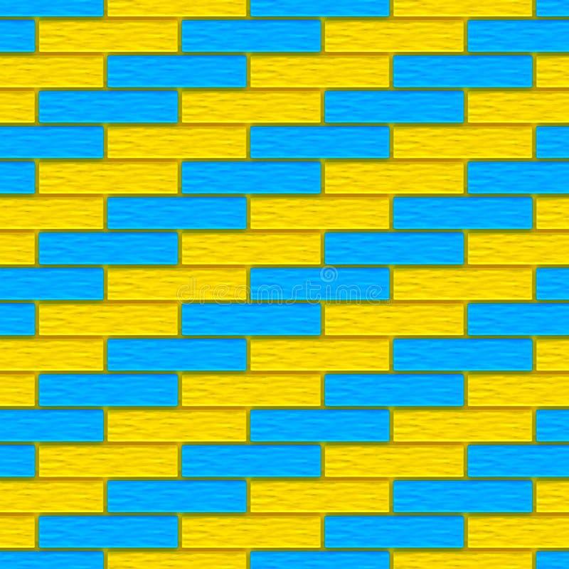 De gekleurde achtergrond van de bakstenentextuur vector illustratie