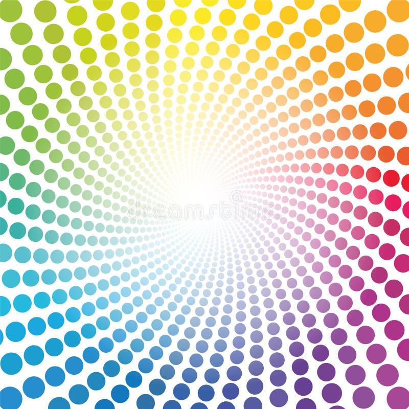 De Gekleurde Buis Dots Infinity van het Spiralepatroon Regenboog stock illustratie