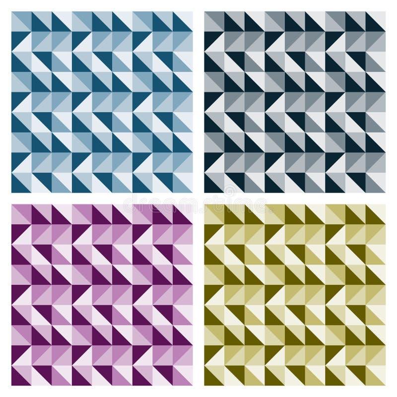 De gekleurde Patronen van de Driehoek royalty-vrije illustratie
