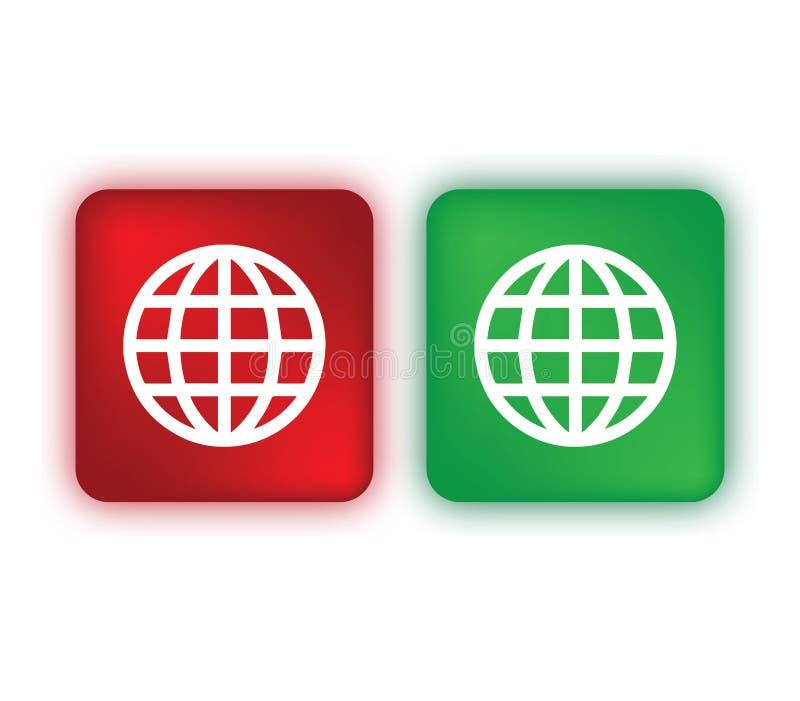 De gekleurde Reeks van het Wereldpictogram vector illustratie