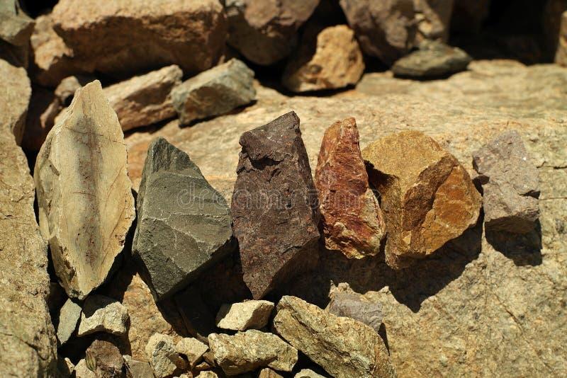 De gekleurde stenen stock foto's