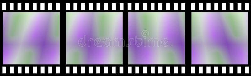 De gekleurde Strook van de Film vector illustratie