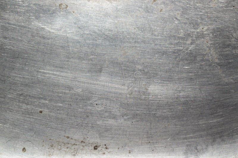 De gekraste achtergrond van de metaal heldere textuur