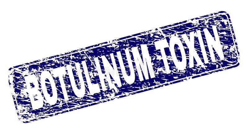 De gekraste BOTULINUM TOXINE ontwierp Rond gemaakte Rechthoekzegel royalty-vrije illustratie