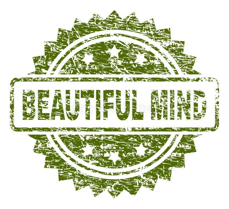 De gekraste Geweven MOOIE Verbinding van de MENINGSzegel royalty-vrije illustratie