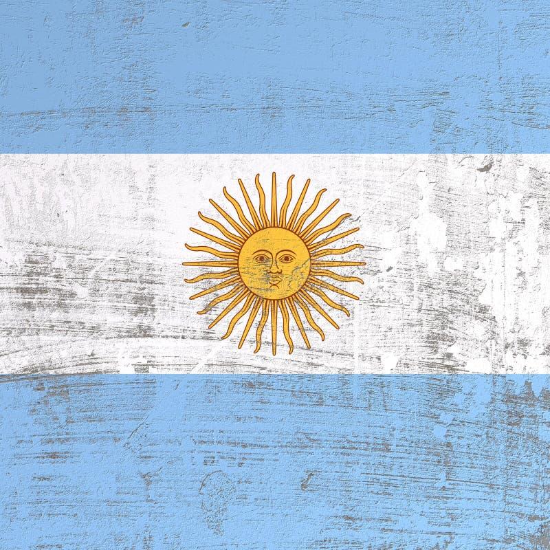 De gekraste vlag van Argentinië vector illustratie