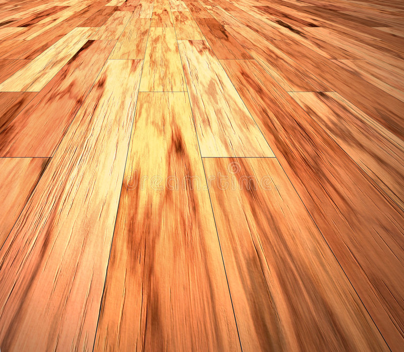 De gelamineerde houten vloer van het mahonie stock illustratie