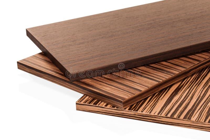 De gelamineerde particleboard spaanplaat wordt gebruikt in het meubilair Ind. stock afbeelding