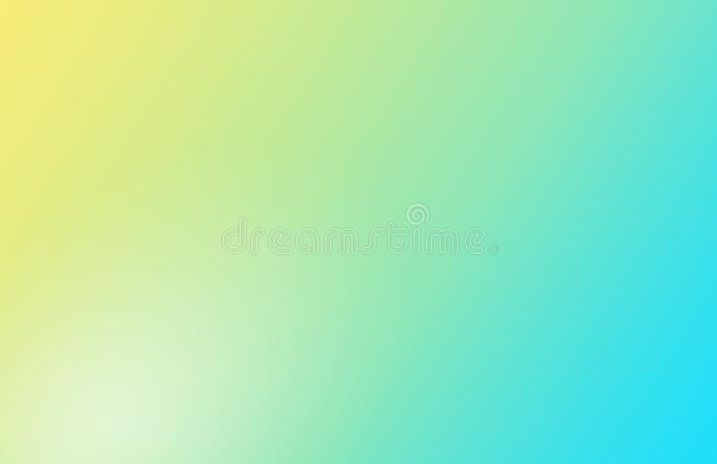 De gele blauwe zachte achtergrond van de pastelkleurgradiënt royalty-vrije stock foto's