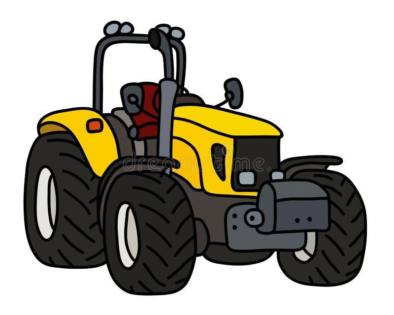 De gele kleine tractor stock illustratie