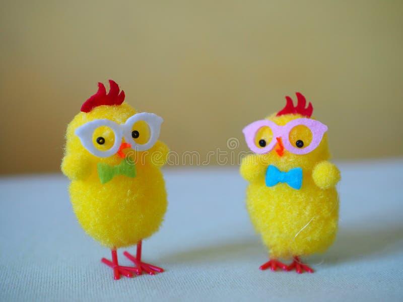 De gele kuikens van Pasen royalty-vrije stock foto's