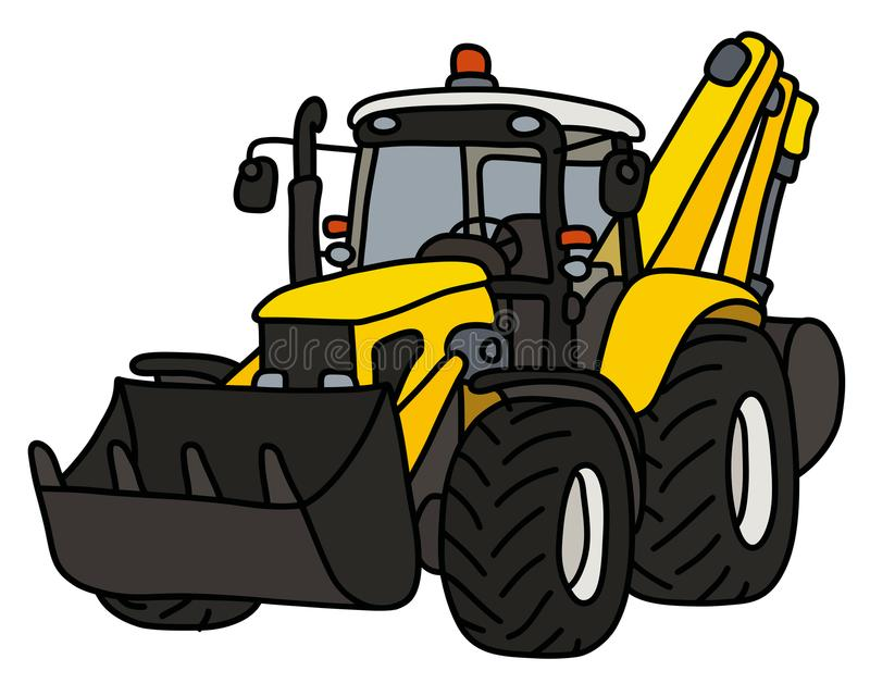 De gele landbouwer royalty-vrije illustratie