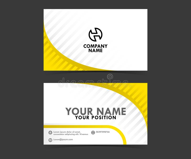 Download De Gele Malplaatjes Van Het Adreskaartjeconcept Vector Illustratie - Illustratie bestaande uit modern, concept: 114227554