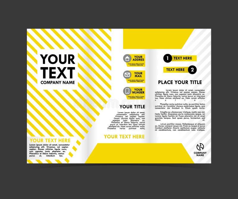 Download De Gele Malplaatjes Van Het Brochureconcept Vector Illustratie - Illustratie bestaande uit grafisch, lay: 114227599