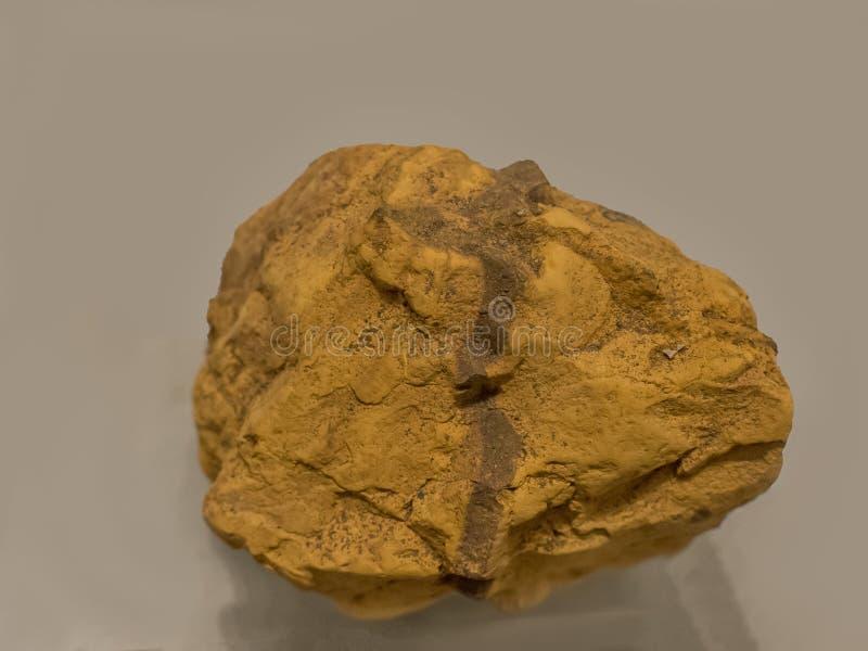 De gele oker is één van het oudste pigment in gebruik sinds prehistorie tot huidig royalty-vrije stock foto