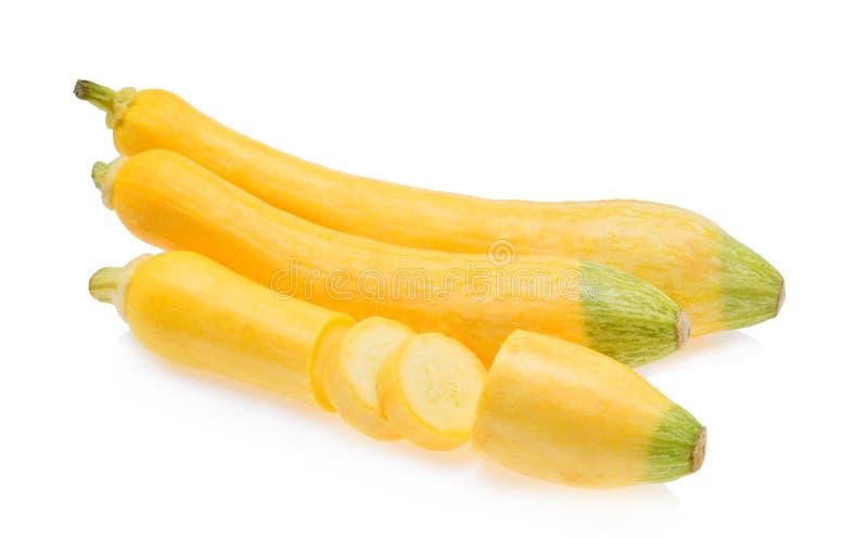 De gele Pompoen van de Courgette stock foto's