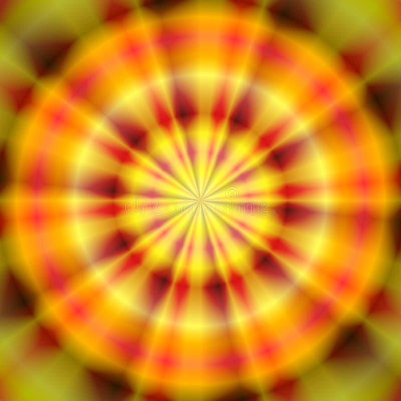 De gele rode groene textuur van het ringsband geverfte patroon vector illustratie
