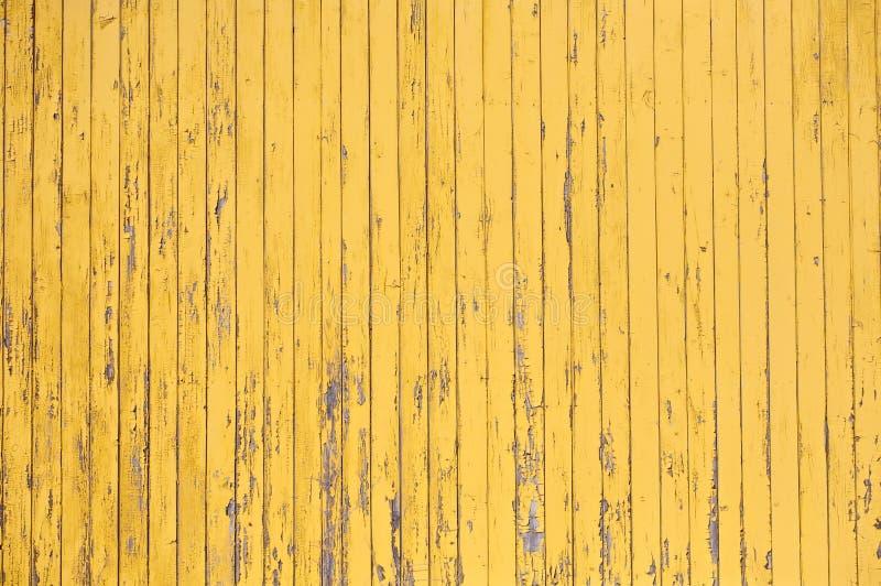 De gele rustieke houten planktextuur van planked muurpatroon stock afbeeldingen
