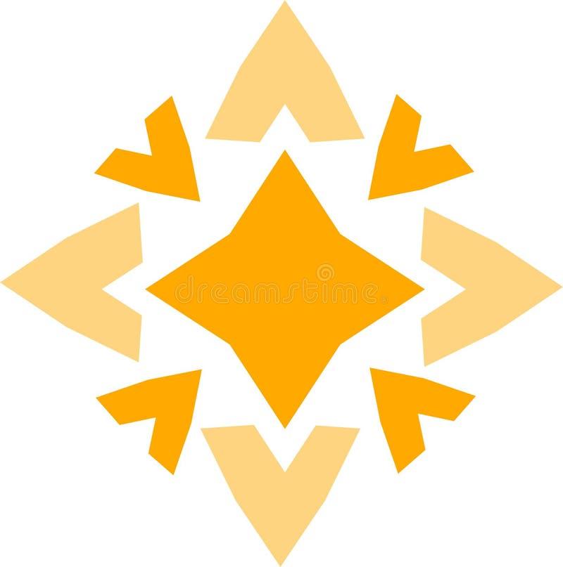De gele ster gaf teken gestalte royalty-vrije stock afbeeldingen