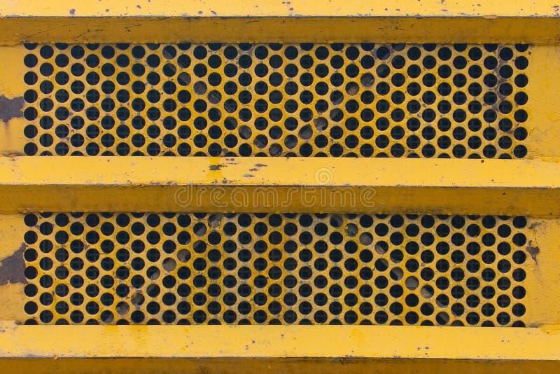 De gele Textuur van de Metaalgrill stock afbeeldingen