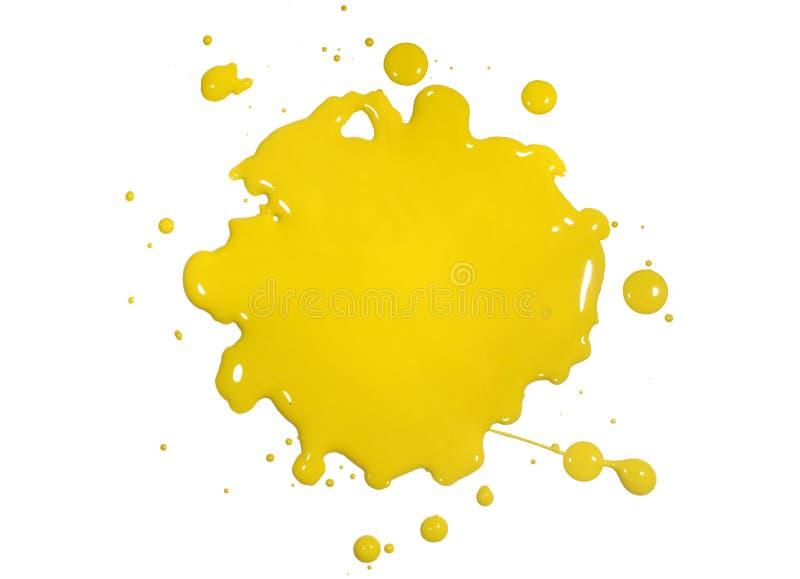 De gele Verf ploetert stock foto's